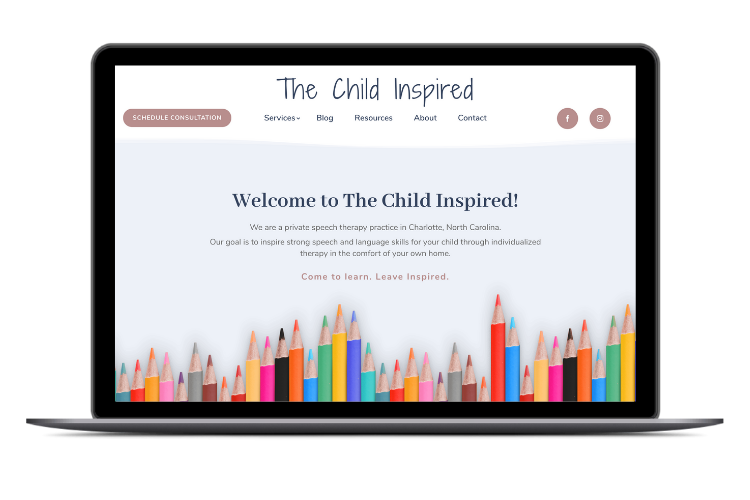 The Child Inspired - Laptop Graphic