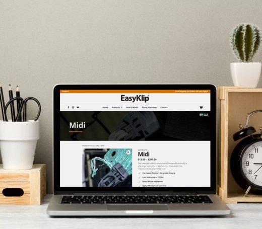 easyklip laptop showcase graphic